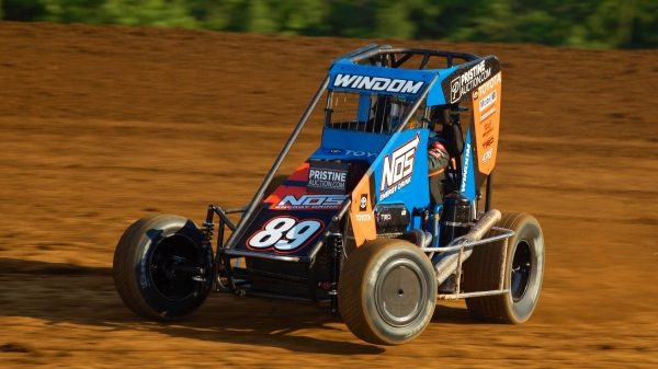Chris Windom (#89) collected the victory during the fourth round of Indiana Midget Week Friday night at Lincoln Park Speedway.