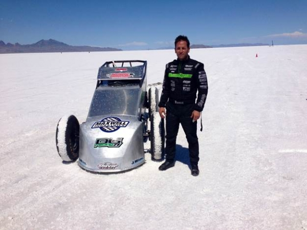 Damion Gardner and the Green Demon at Bonneville.