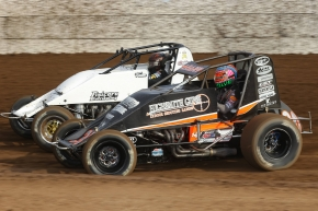 C.J. Leary, in black, captured Wednesday's USAC West Coast Sprint Dash at Ventura Raceway.