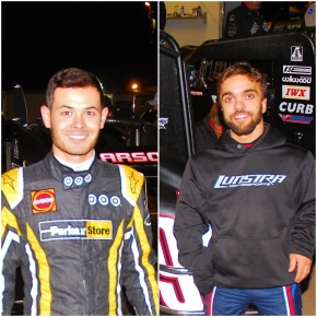 Kyle Larson (Left) and Rico Abreu (Right)