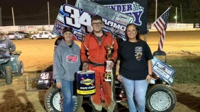 Friday's Thunder Valley Raceway winner Cody Trammell.
