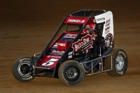 "Kevin Thomas, Jr. scored a thrilling last-lap, last corner win during Saturday night's USAC NOS Energy Drink ""Kokomo Grand Prix."""