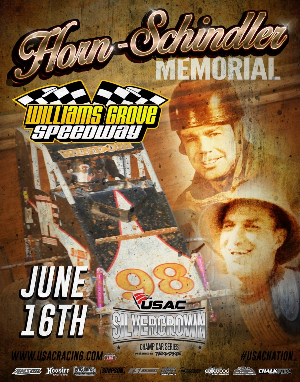 USAC SILVER CROWN HORN-SCHINDLER MEMORIAL BACK TO THE GROVE FRIDAY