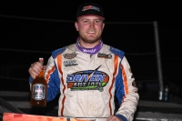 "Tyler Courtney won his first career ""Winter Dirt Games"" feature Friday night at Bubba Raceway Park in just his second start in the Clauson-Marshall-Newman Racing Sprint Car."
