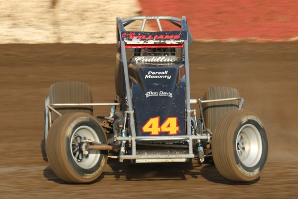 "#44 ""The Cadillac"" Cody Williams – 5th in USAC/CRA Point Standings."