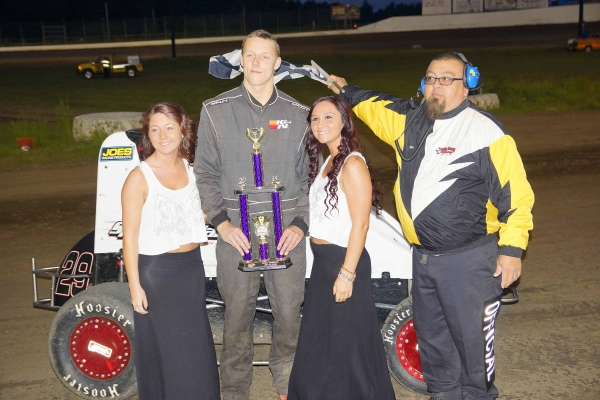 Dougie James celebrates after his win at Grays Harbor.