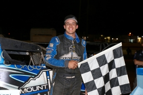 "Tipp City, Ohio's Landon Simon took the victory in Wednedsay's non-points-paying ""Special Event"" at Lincoln Speedway."