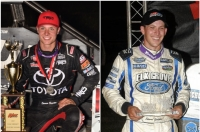 Kokomo winner Spencer Bayston (left) and newly-crowned Indiana Midget Week champion Shane Golobic (Right).