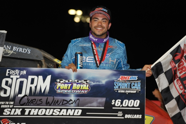 "Chris Windom picked up his second Port Royal Speedway ""Eastern Storm"" victory in as many years Saturday night."
