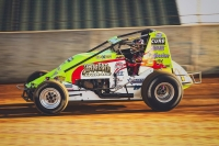 Dave Darland won last Saturday night's USAC AMSOIL National Sprint feature at Lawrenceburg (Ind.) Speedway