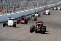 Tanner Swanson leads the field during the opening laps at Gateway.