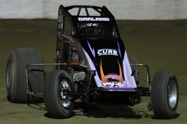 Last April's Lawrenceburg USAC Sprint winner Dave Darland.