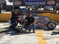 Jake Garcia and team celebrate their Saturday win at Kenly, NC