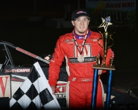 Kevin Thomas, Jr. kept his hot streak going, winning his third-straight AMSOIL National Sprint Car feature on Saturday at Tri-State Speedway in Haubstadt, Indiana...