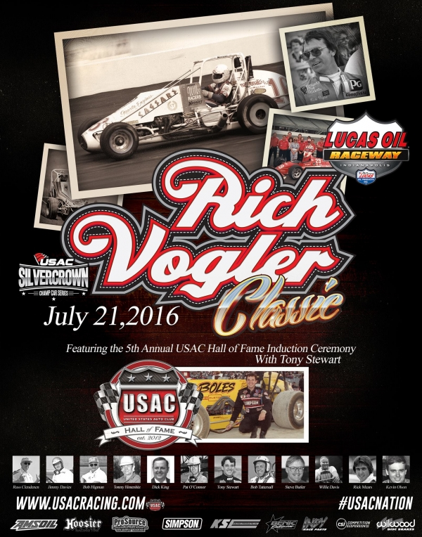 "WINDOM-SWANSON BATTLE IN THURSDAY'S ""RICH VOGLER CLASSIC,"" 12 NEW USAC HALL OF FAME INDUCTEES TO BE CELEBRATED"