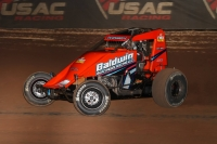 Chris Windom became the first driver to win three straight USAC AMSOIL National Sprint Car features this season and the first to do so since Robert Ballou during Eastern Storm in 2015.