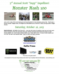 "3rd Annual Scott ""Impy"" Imprellizeri Monster Mash 100"