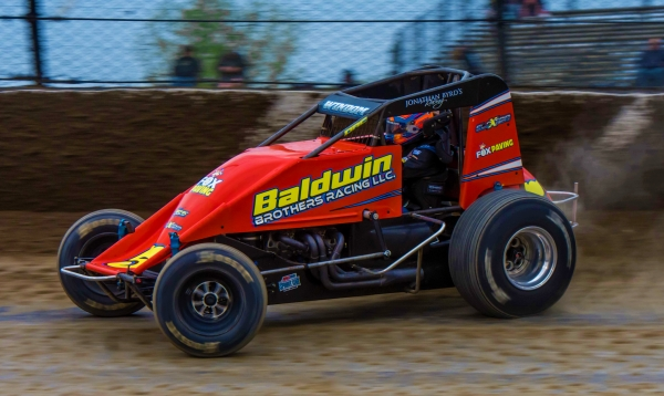 Chris Windom captured Saturday night's #LetsRaceTwo USAC AMSOIL National Sprint Car feature at Eldora Speedway.