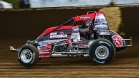 Kyle Cummins (Princeton, Ind.) led the final 17 laps to capture Thursday night's USAC AMSOIL National Sprint Car Smackdown IX at Kokomo (Ind.) Speedway.