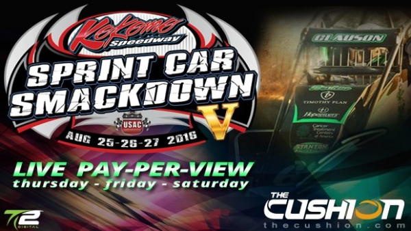 4 STRAIGHT NIGHTS OF USAC SPRINTS AT KOKOMO TO BE STREAMED LIVE ON THE CUSHION