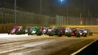USAC's Rapid Tire East Coast Sprint Car series salutes the fans.