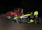"Chase Stockon passed Jerry Coons, Jr. and went on to win Friday's ""Indiana Sprint Week"" opener at Gas City I-69 Speedway."