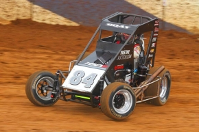 "Path Valley Speedway Park ""Pennsylvania Midget Week"" winner Chad Boat."