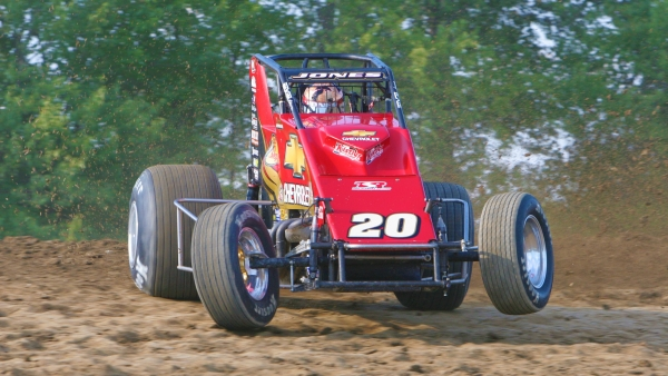 7-time USAC National champion Levi Jones at Gas City I-69 Speedway in 2007.