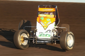 Brady Bacon won Thursday night's USAC AMSOIL National Sprint Car event at the Jackson (Minn.) Motorplex.