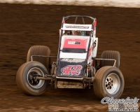 #42 Thomas Meseraull won Sunday night's race at Calistoga.