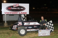 Andy Baugh wins Canton IMRA Speed2 opener.