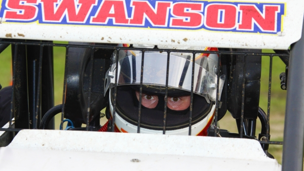 A focused Kody Swanson during the 2015 USAC Silver Crown season.