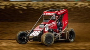 2020 Indiana Midget Week champion Kyle Larson (Elk Grove, Calif.)