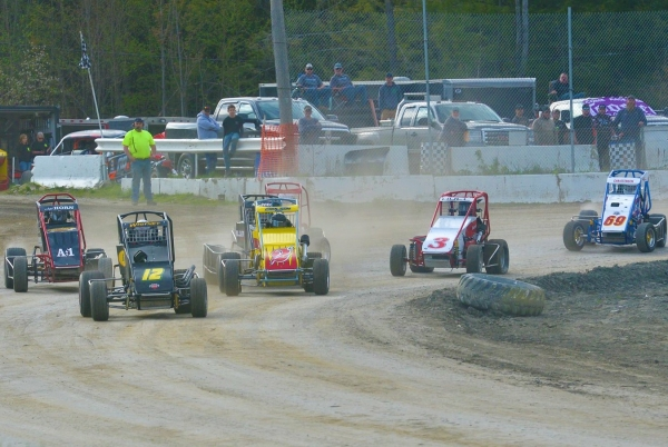 USAC DMA action at Bear Ridge Speedway in Bradford, Vermont
