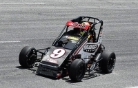 New USAC Eastern HPD Midget point leader Chris Lamb won Saturday night's first feature at Virginia's Dominion Raceway.