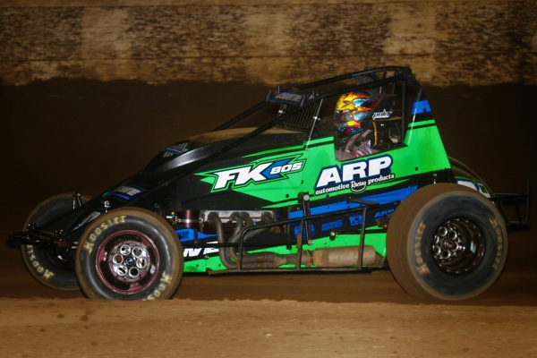 """Sunshine"" Tyler Courtney captured the victory in Thursday's ""Turkey Night Grand Prix"" USAC West Coast / VRA Sprint Car feature at Ventura (Calif.) Raceway."