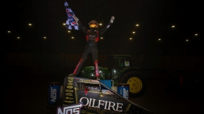 Tanner Thorson captured the victory in Saturday night's Shamrock Classic at the Southern Illinois Center.