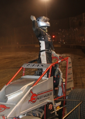 "Nic Faas celebrates after winning the ""Glenn Howard Memorial."""