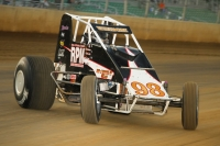 "Chris Windom, of Canton, Illinois, winner of Saturday night's ""Ted Horn 100"" presented by Casey's General Stores USAC Silver Crown race at the Du Quoin (IL) State Fairgrounds."