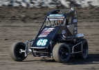 Ronnie Gardner was victorious in last Saturday's USAC Western States Midget feature at Santa Maria (Calif.) Raceway.