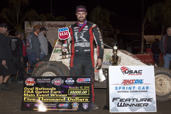 BALLOU'S PERRIS STREAK CONTINUES WITH FRIDAY OVAL NATIONALS PRELIMINARY WIN