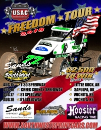 USAC SOUTHWEST SPRINT CAR FREEDOM TOUR ARRIVES THIS WEEK!
