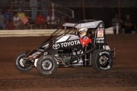 Spencer Bayston won Wednesday night at Gas City, bumping him up to fourth in the lastest Indiana Midget Week standings.