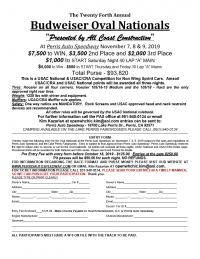 PERRIS OVAL NATIONALS PRE-ENTRY FORM