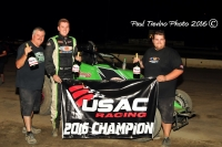 2016 USAC West Coast Sprint Car champion Brody Roa of Garden Grove, California.