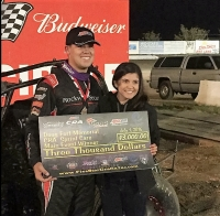 Ryan Bernal in Santa Maria victory lane.