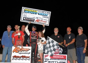 "CLAUSON CLOSES ""MIDGET WEEK"" WITH BIRTHDAY WIN; ABREU TAKES TITLE"
