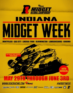INDIANA MIDGET WEEK STANDINGS (After Rd. 1 of 6)