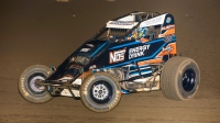 Chris Windom (#5G) leads the Oval Nationals point standings after night 1 of 3 at Perris Auto Speedway.