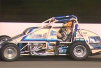 Greg Staab during his only USAC National Sprint Car feature win at Indianapolis Raceway Park on July 28, 1988.